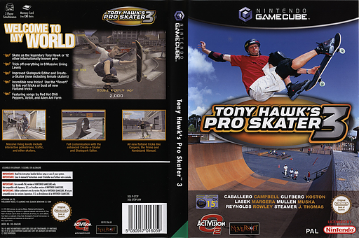 Tony Hawk's Pro Skater 3 GameCube cover (GT3P52)
