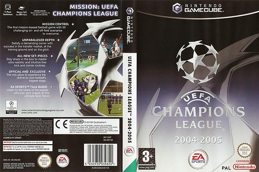 UEFA Champions League 2004-2005 GameCube cover (GUCP69)