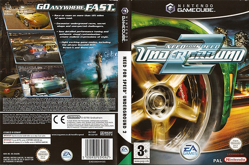 Need for Speed: Underground 2 GameCube cover (GUGP69)