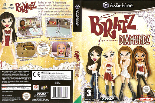 Bratz Forever Diamondz GameCube cover (GVDP78)