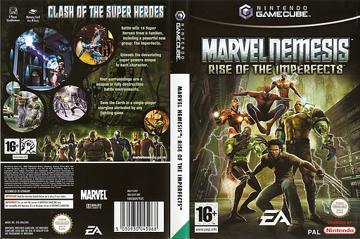 Marvel Nemesis: Rise of the Imperfects GameCube cover (GVLP69)