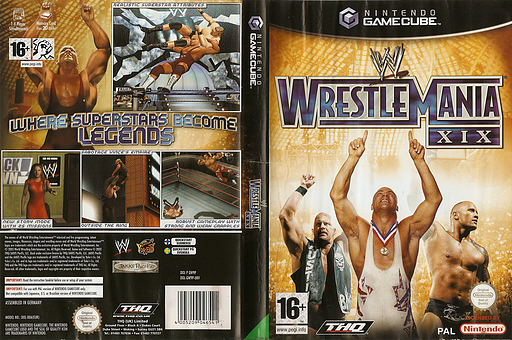 WWE WrestleMania XIX GameCube cover (GW9P78)