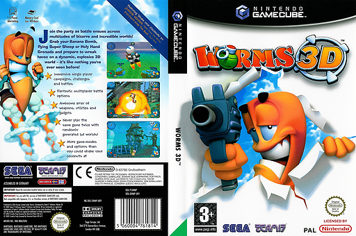 Worms 3D GameCube cover (GWMP8P)
