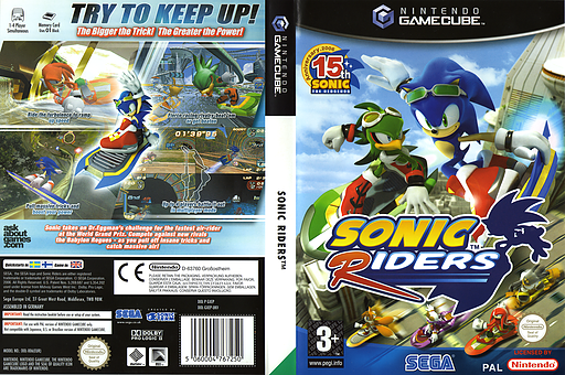 Sonic Riders GameCube cover (GXEP8P)