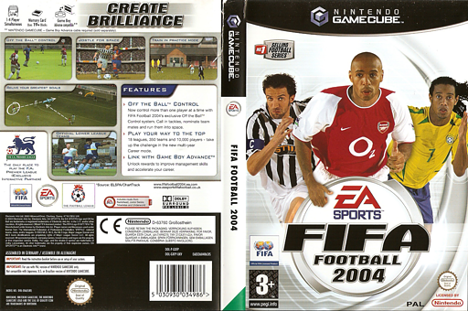 FIFA Football 2004 GameCube cover (GXFP69)