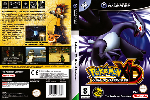 Pokémon XD: Gale of Darkness GameCube cover (GXXP01)