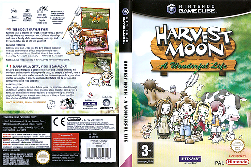 how to play harvest moon gamecube
