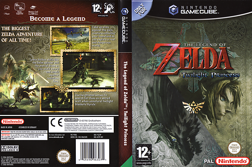 The Legend of Zelda: Twilight Princess GameCube cover (GZ2P01)