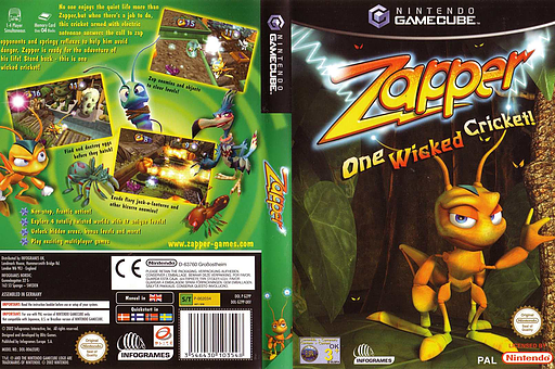 Zapper: One Wicked Cricket! GameCube cover (GZPP70)