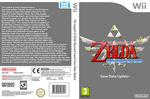The Legend of Zelda Skyward Sword Update Channel cover (HCRP)