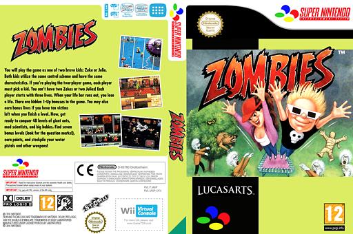 Zombies VC-SNES cover (JA6P)