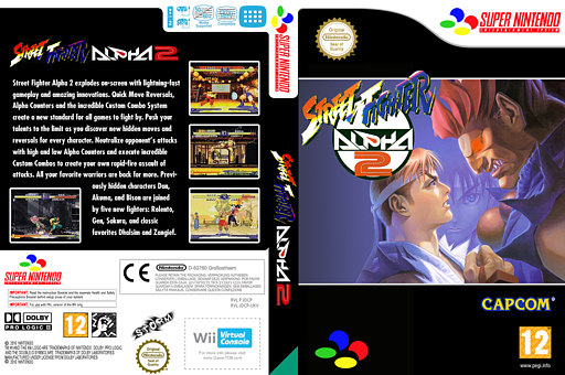 Street Fighter Alpha 2 VC-SNES cover (JDCP)