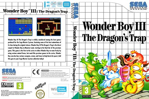 Wonder Boy III: The Dragon's Trap VC-SMS cover (LAPP)