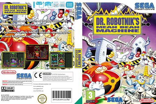 Dr. Robotnik's Mean Bean Machine VC-MD cover (MACP)