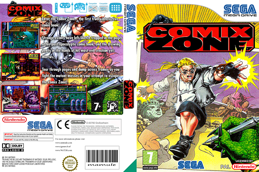 Comix Zone VC-MD cover (MAPP)