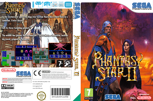 Phantasy Star II VC-MD cover (MB8P)