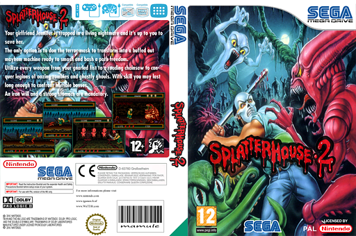 Splatterhouse 2 VC-MD cover (MCJP)