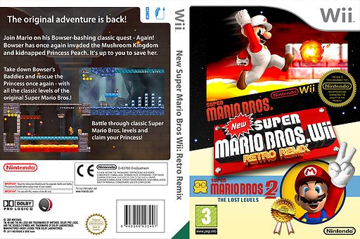New Super Mario Bros. Wii Retro Remix CUSTOM cover (MRRP01)