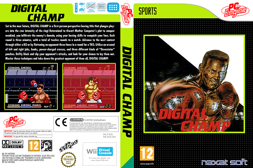 Digital Champ : Battle Boxing VC-PCE cover (PCSL)