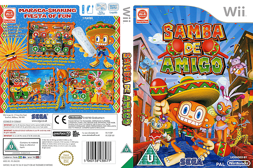 Samba de Amigo Wii cover (R3BP8P)