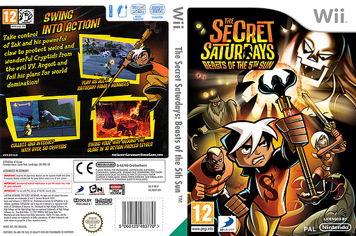 The Secret Saturdays: Beasts of the 5th Sun Wii cover (R85PG9)