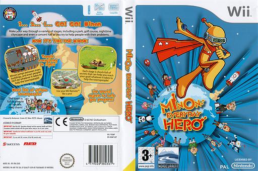 Minon: Everyday Hero Wii cover (RDMPHZ)