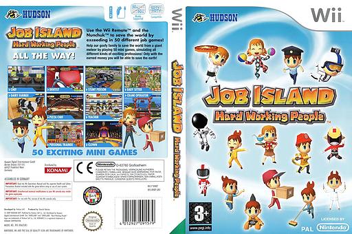 Job Island: Hard Working People Wii cover (RHKP18)