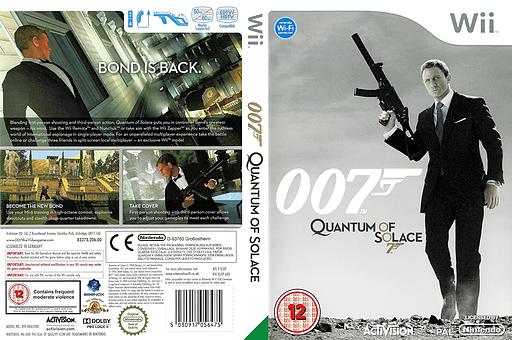 007: Quantum of Solace Wii cover (RJ2P52)