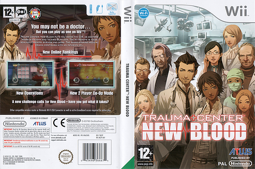 Trauma Center: New Blood Wii cover (RK2P01)