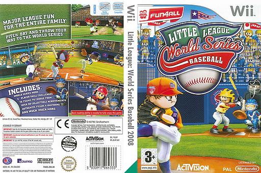 Little League World Series Baseball 2008 Wii cover (RLHP52)