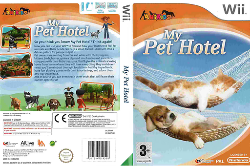 My Pet Hotel Wii cover (RMNDFR)