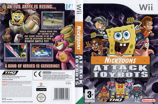 Nicktoons: Attack of the Toybots Wii cover (RN3P78)