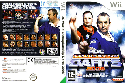 PDC World Championship Darts 2008 Wii cover (RPDPGN)