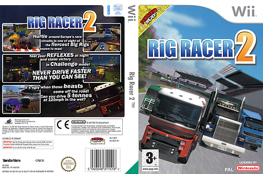Rig Racer 2 Wii cover (RR2PUG)