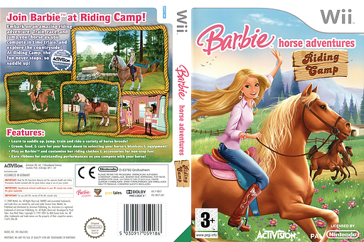 Barbie Horse Adventures: Riding Camp Wii cover (RRCP52)