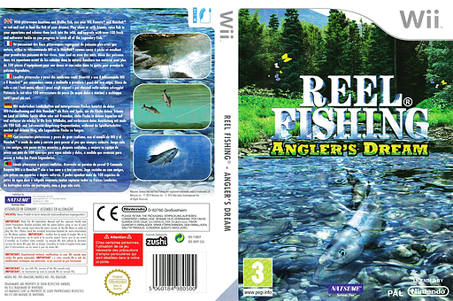 Reel Fishing: Angler's Dream Wii cover (RRFPE9)