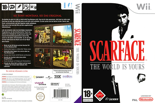 Scarface: The World Is Yours Wii cover (RSCD7D)