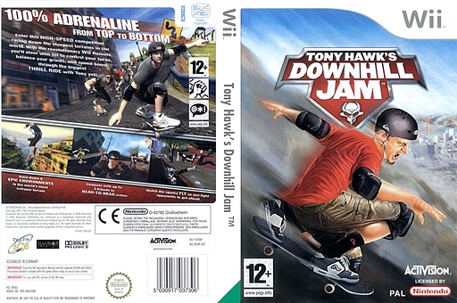 Tony Hawk's Downhill Jam Wii cover (RTHP52)