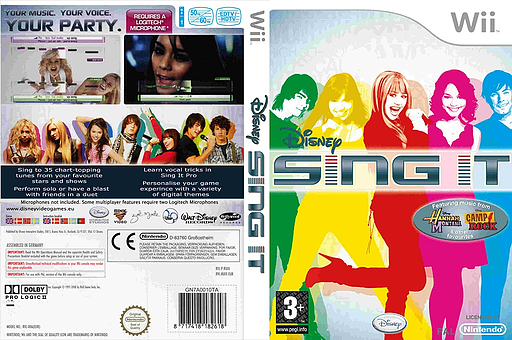 Disney: Sing It Wii cover (RUIP4Q)