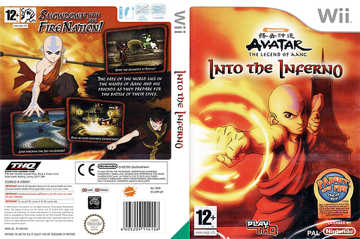 Avatar: The Legend of Aang - Into the Inferno Wii cover (RV9P78)