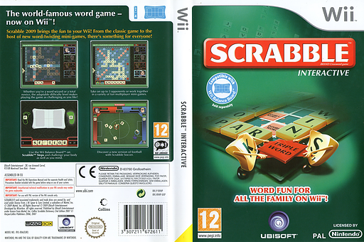 Scrabble Interactive: 2009 Edition Wii cover (RVHP41)
