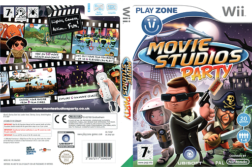 Movie Studios Party Wii cover (RVQP41)