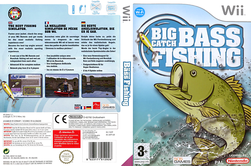 Big Catch Bass Fishing Wii cover (RXPPGT)