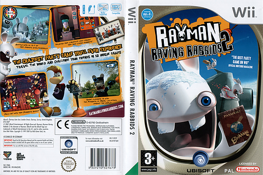 Rayman Raving Rabbids 2 Wii cover (RY2P41)