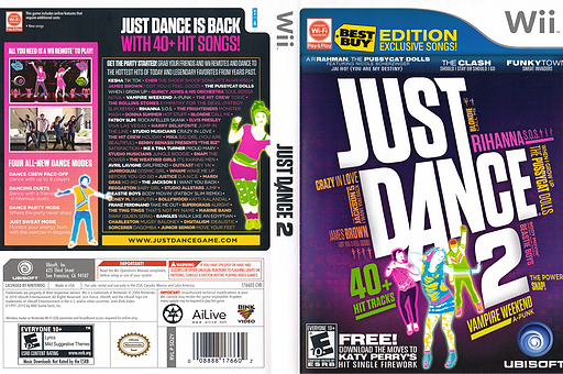 Just Dance 2: Best Buy Edition Wii cover (SD2Y41)