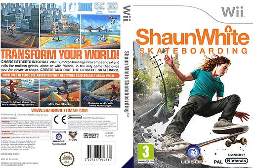 Shaun White Skateboarding Wii cover (SHNP41)