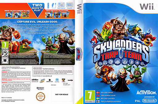 Skylanders: Trap Team Wii cover (SK8V52)