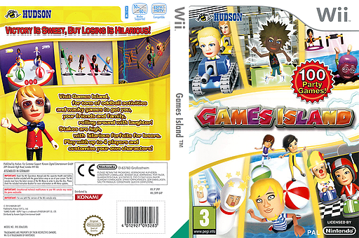 Games Island Wii cover (SPIP18)