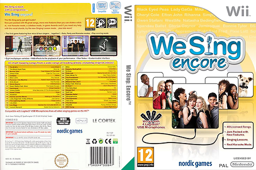 We Sing: Encore Wii cover (SSEPNG)