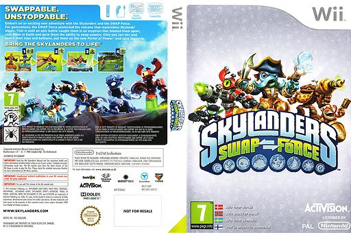Skylanders: Swap Force Wii cover (SVXY52)